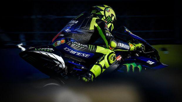 Valentino Rossi di kualifikasi MotoGP Prancis 2020.