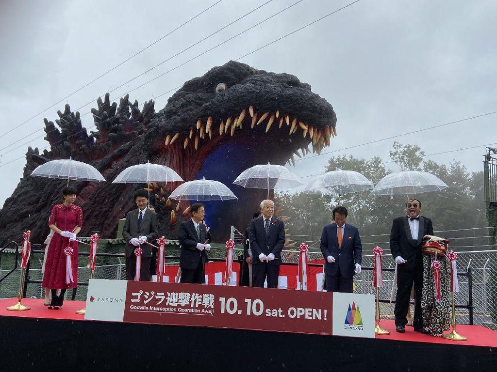 Museum Godzilla di Jepang Resmi Dibuka, Kepala Patungnya Setinggi 121 Meter