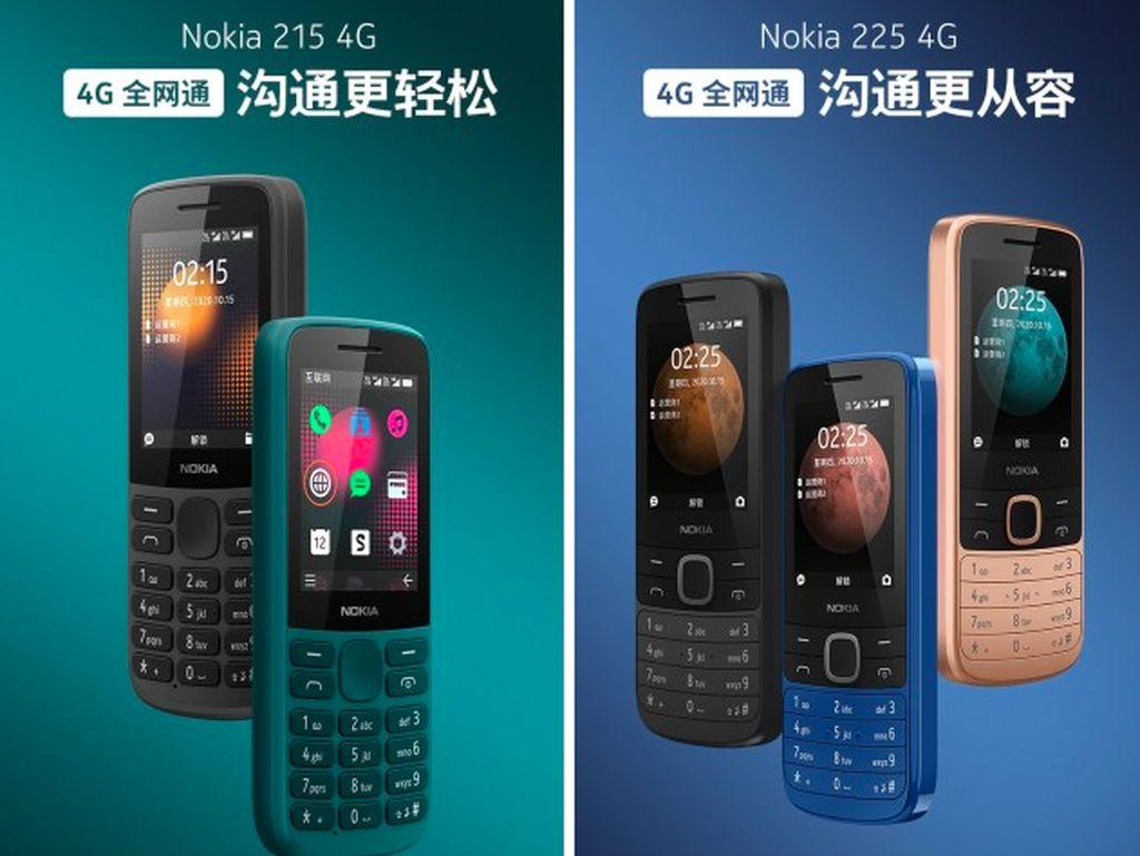 Nokia 215 dan 225, Ponsel 4G Murah Meriah