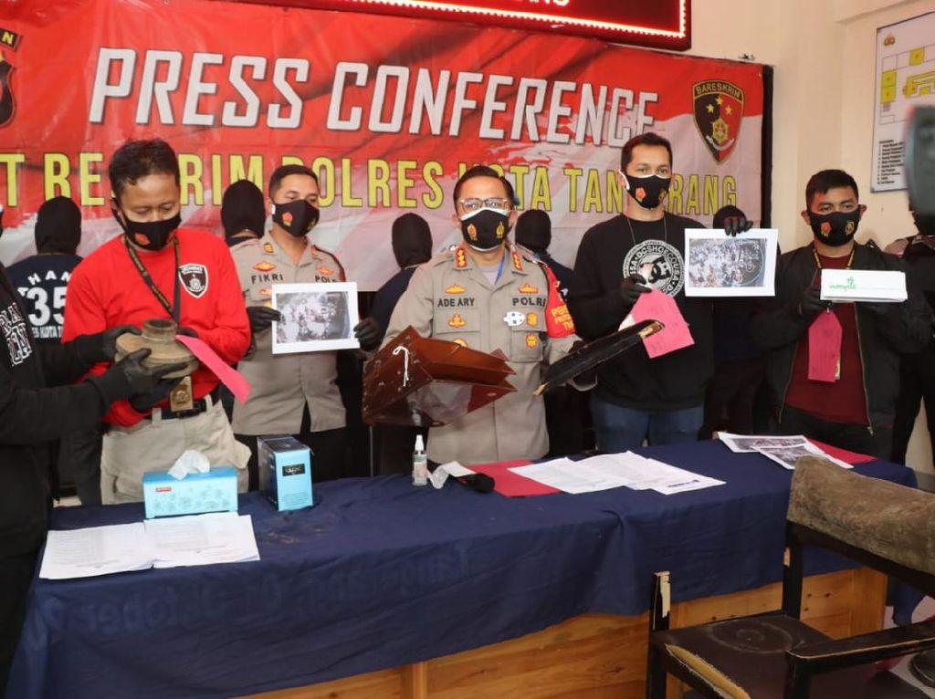 Jadi Tersangka, Ini Peran 9 Anggota Ormas Tangerang Saat Demo Omnibus Law