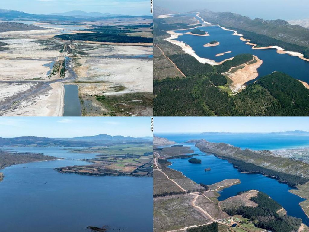 Before-After Cape Town yang Pernah Hampir Kehabisan Air
