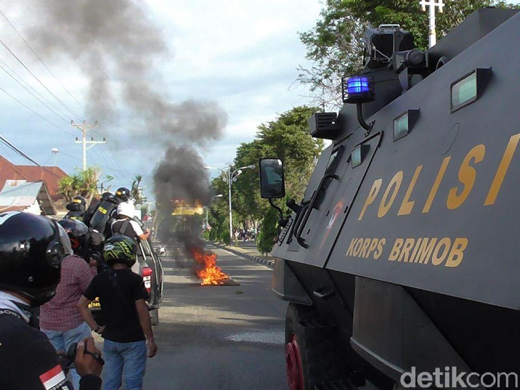 Aksi Tolak Omnibus Law di Gorontalo Ricuh, Sejumlah Mahasiswa Diamankan
