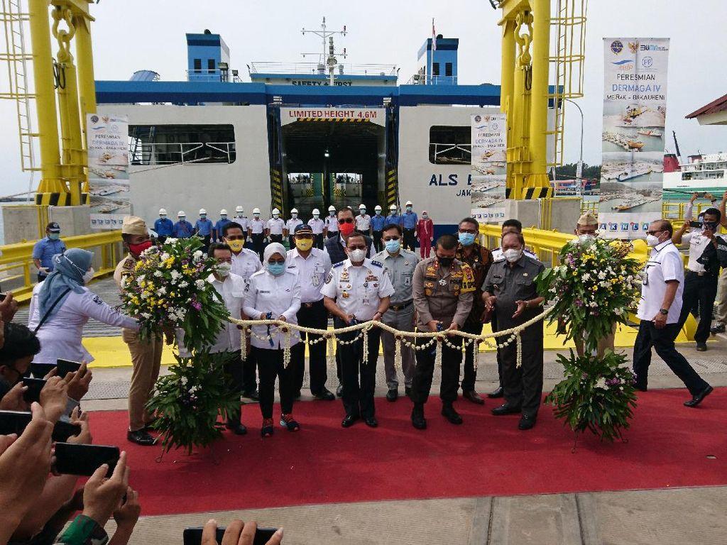18 Tahun Terbengkalai, Dermaga 4 Pelabuhan Merak Akhirnya Digunakan Lagi