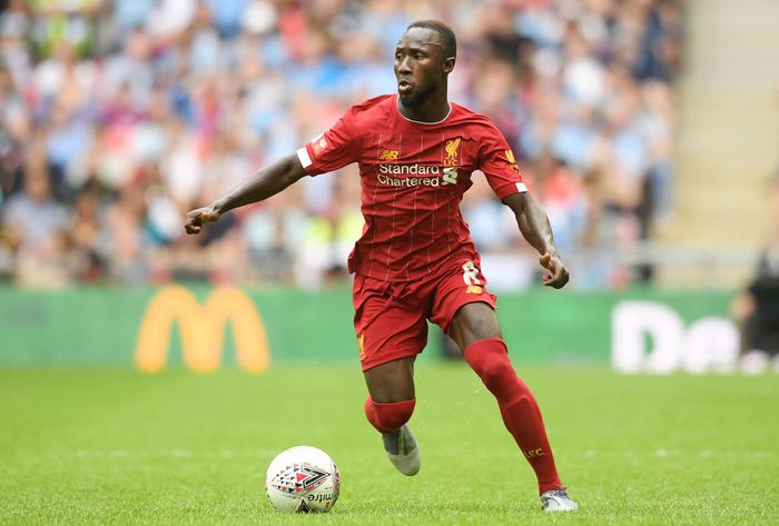 LONDON, ENGLAND - AUGUST 04: Naby Keita of Liverpool runs with the ball during the FA Community Shield match between Liverpool and Manchester City at Wembley Stadium on August 04, 2019 in London, England. (Photo by Michael Regan/Getty Images)