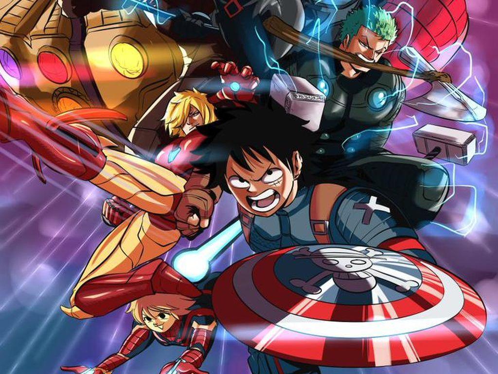 Keren! Luffy Cs One Piece Jadi Karakter Marvel