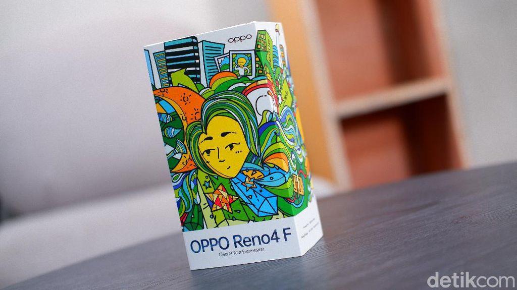 Unboxing Reno4 F, Ponsel Berbodi Ramping Punya 6 Kamera