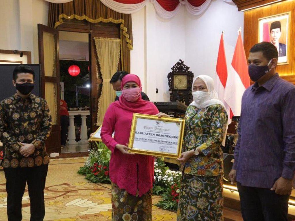 Gubernur Jatim Apresiasi Pemkab Bojonegoro yang Capai UHC