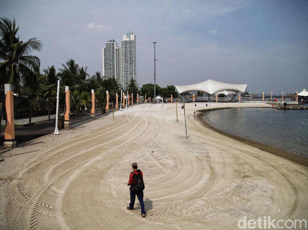Hore Suasana Pantai Ancol yang Sudah Dibuka Lagi