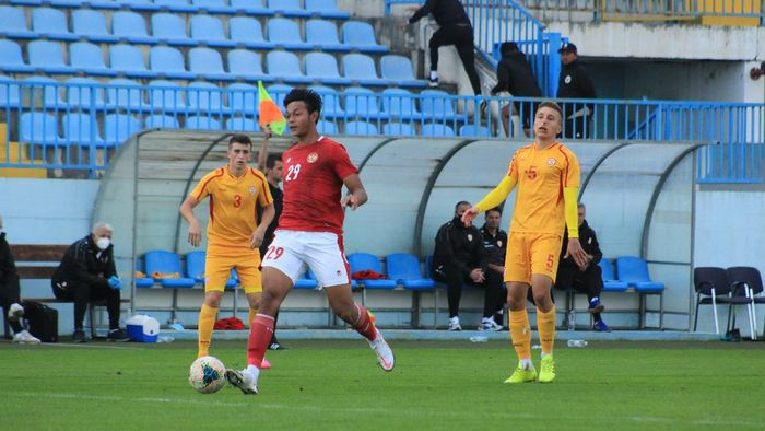 Timnas U-19, Timnas Indonesia U-19, dalam laga uji coba di Kroasia ketika menghadapi Makedonia Utara, Minggu (11/10/2020).