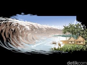 BMKG Ingatkan Adanya Potensi Tsunami 3 Meter  di Wilayah Pantai Selatan