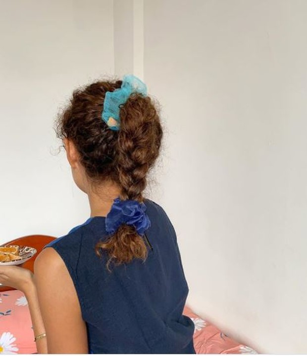 Gaya rambut kepang ala agnes oryza