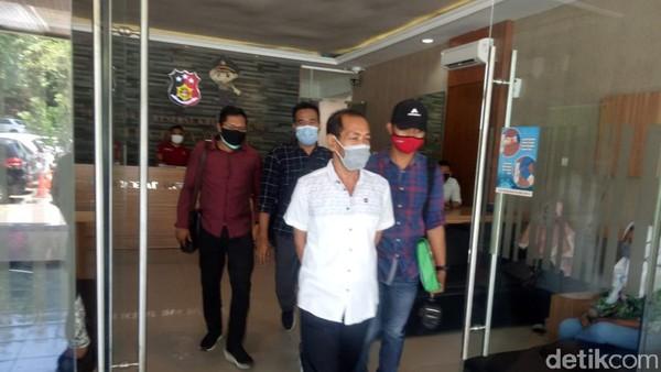 Ketua Komnas Perlindungan Anak Jateng Endar Susilo di Mapolda Jateng. Endar terjerat kasus penipuan dan penggelapan, Selasa (13/10/2020).