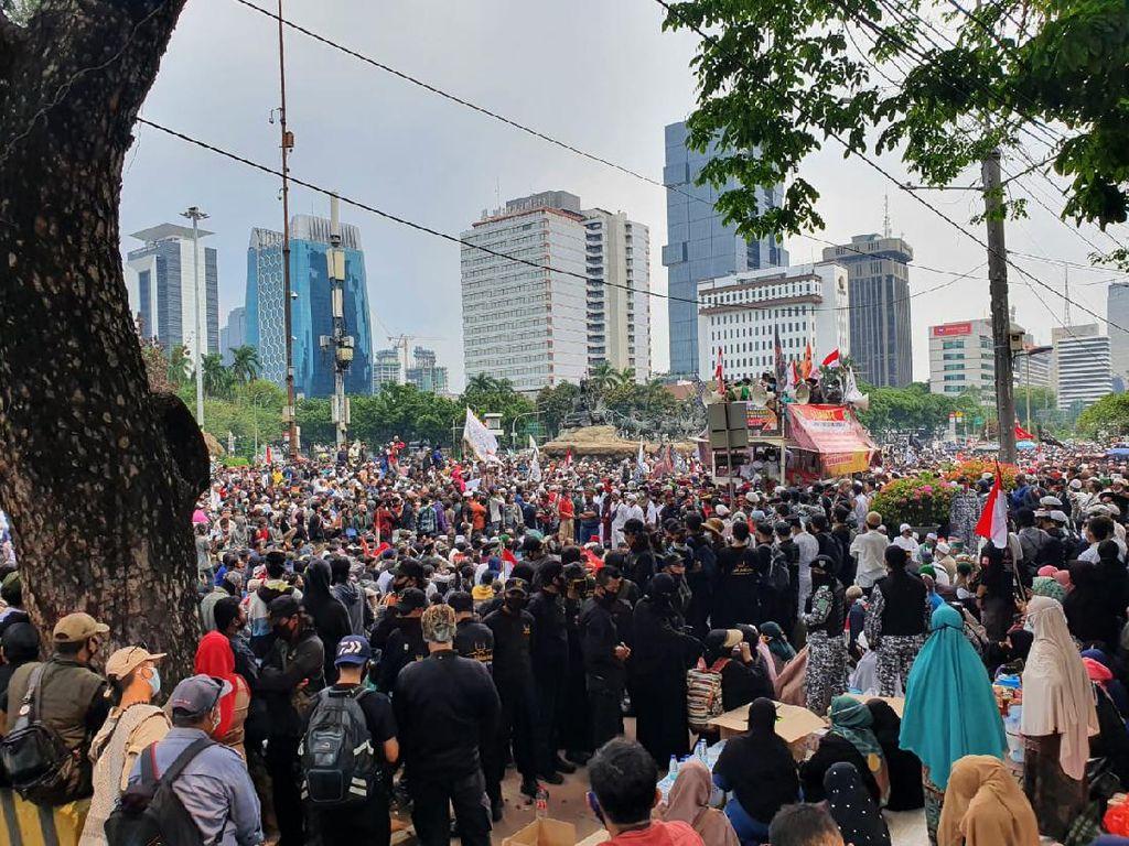 Kerumunan di Demo PA 212 dkk, Polisi Minta Massa Tertib Protokol Kesehatan