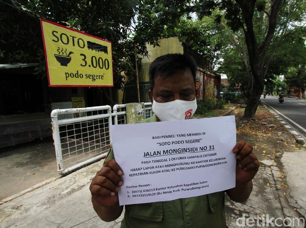 Kasus Corona Warung Soto di Solo, Pembeli Belum Ada yang Lapor
