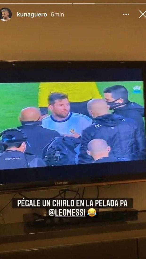 Sergio Aguero menanggap perseteruan Lionel Messi dan Marcelo Moreno