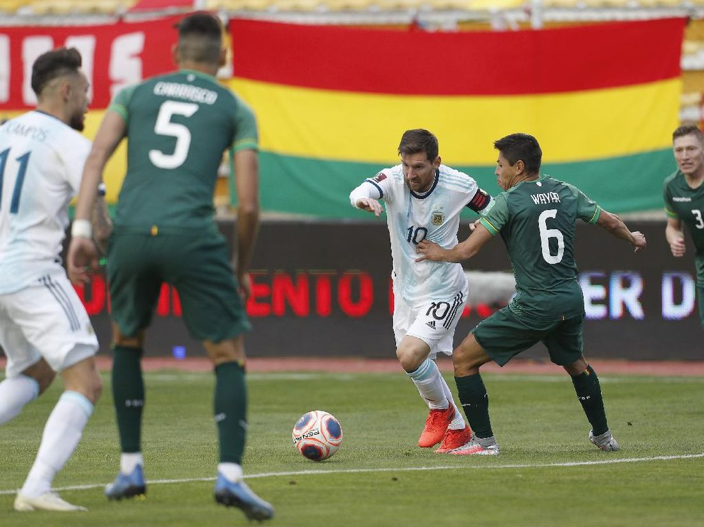 Kualifikasi Piala Dunia 2022: Argentina Susah Payah Kalahkan Bolivia