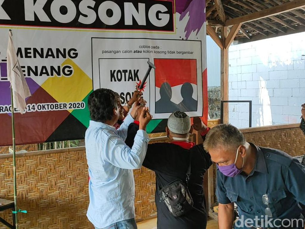 Sejumlah Orang Gelar Deklarasi Dukung Kotak Kosong Pilbup Sragen