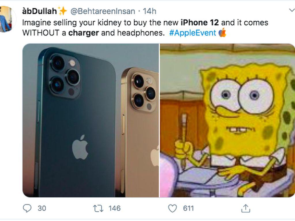 iPhone 12 Dijual Tanpa Charger Jadi Lelucon Netizen