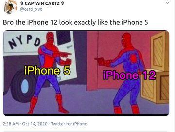 Meme iPhone 12 VS iPhone 5 yang Disindir Kembar