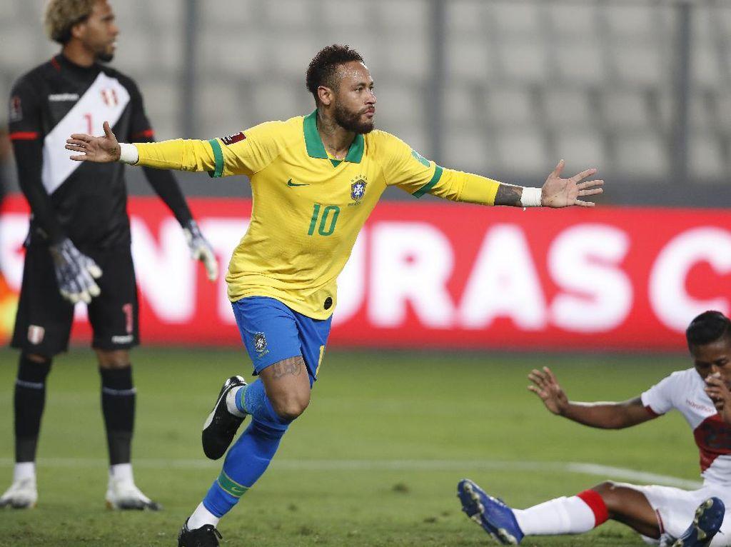 Kualifikasi Piala Dunia 2022: Neymar Hat-trick, Brasil Kalahkan Peru 4-2