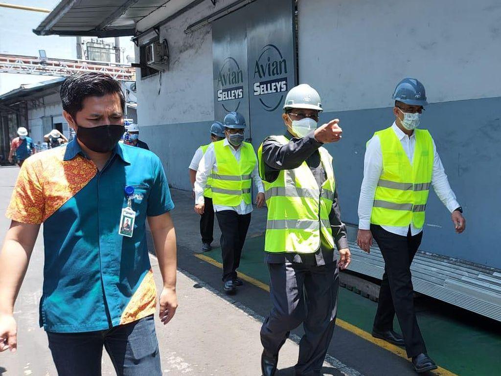 Kejar Target Zona Kuning, Pj Bupati Sidoarjo Sidak Hingga ke Pabrik