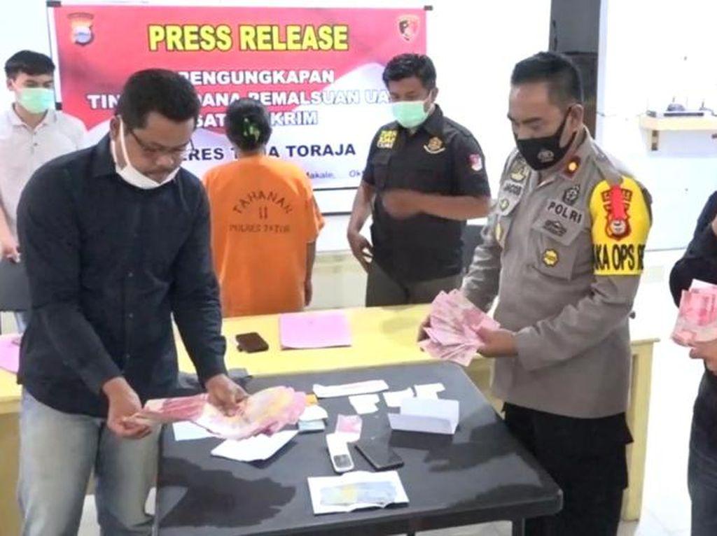 Edarkan Uang Palsu, Ibu Rumah Tangga di Tana Toraja Ditangkap