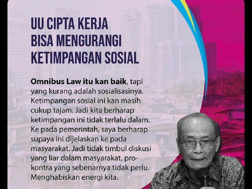 Ramai Poster Buya Syafii Dukung Omnibus Law di Medsos, Ini Faktanya