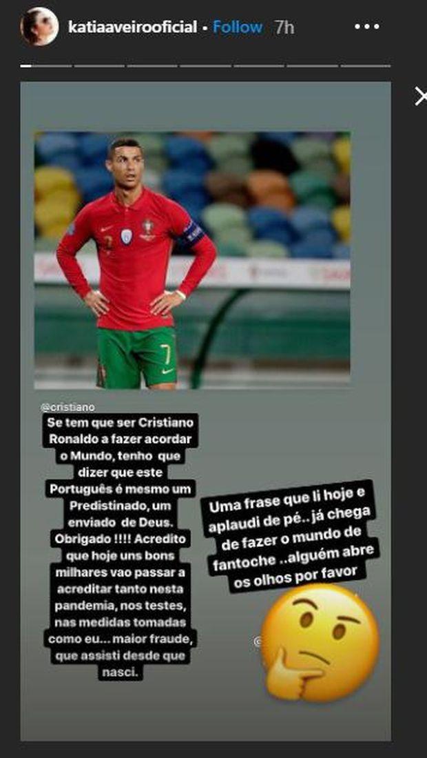 Kakak Cristiano Ronaldo, Katia Aveiro, tak percaya adiknya positif terinfeksi virus Corona, dan menyebut pemberitaan yang ada hanya bohong belaka.