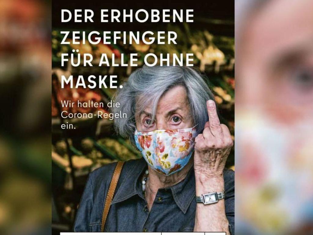 Iklan Badas Jerman, Acungkan Jari Tengah Buat Para Antimasker