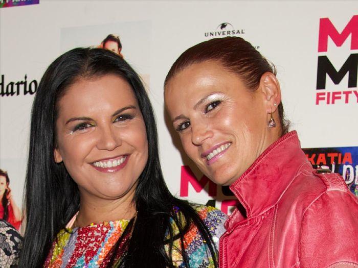 MADRID, SPAIN - SEPTEMBER 18:  Singer Katia Aveiro (L) and her sister Elma Aveiro (R) attend the presentation of new album