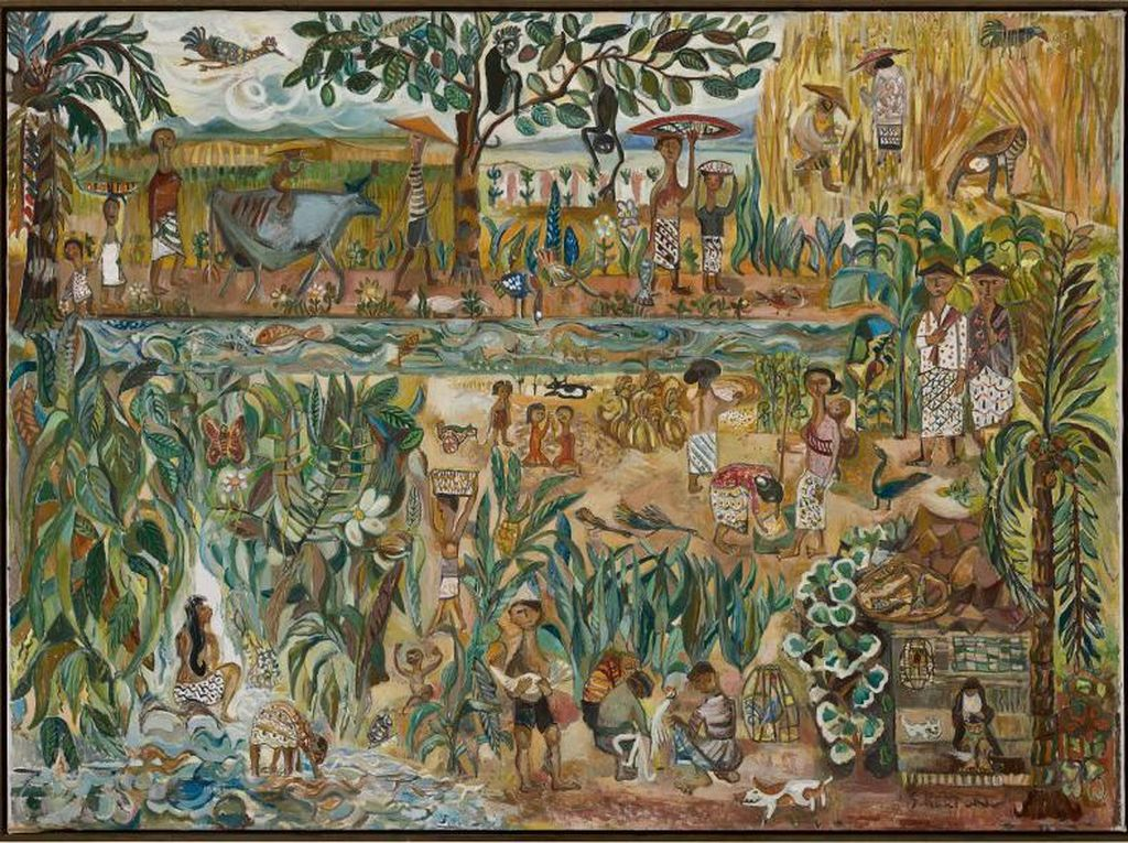 Lukisan Seniman Sudjana Kerton Laku Terjual di Hong Kong Rp 15 Miliar!