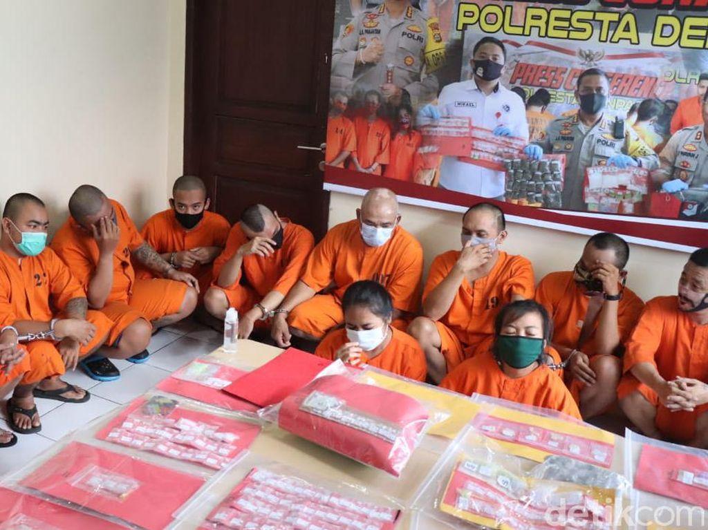 37 Tersangka Narkoba Ditangkap di Denpasar dalam Sebulan