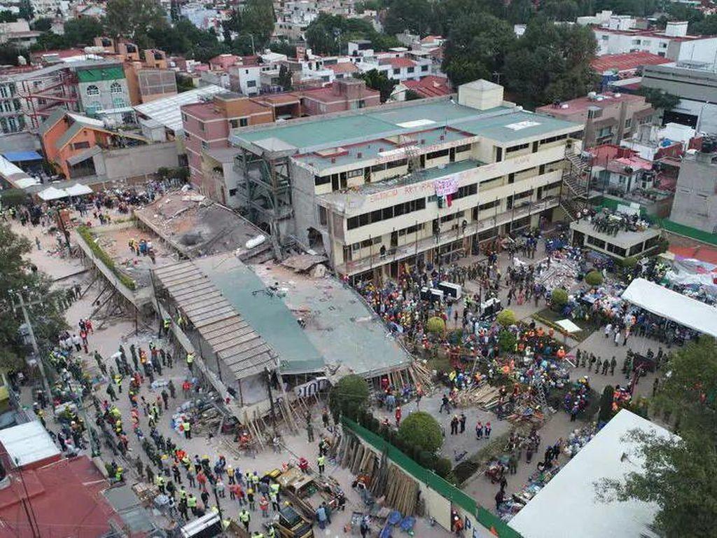 19 Murid Tewas Saat Gempa, Pemilik Sekolah Meksiko Dibui 31 Tahun