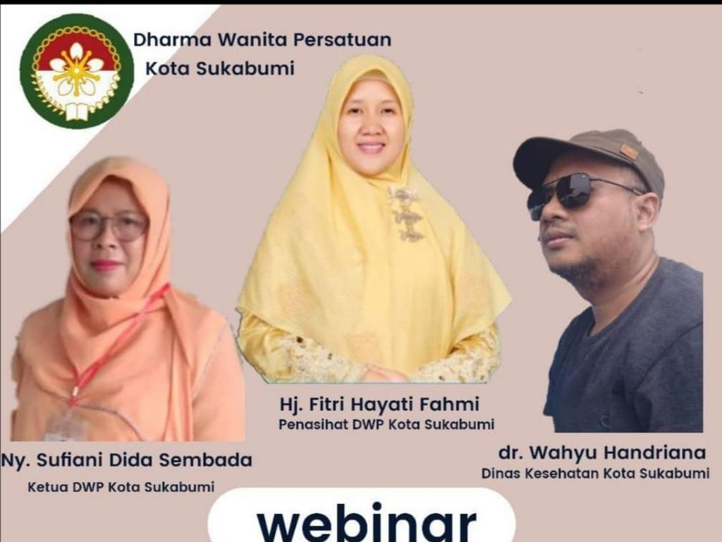 Gelar Webinar, Istri Walkot Sukabumi Bahas soal Pelakor di Masa Pandemi