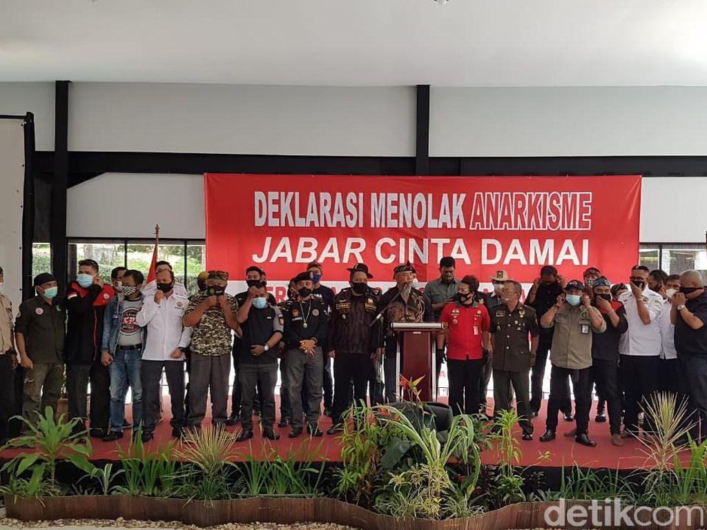 Ormas di Jabar Deklarasi Tolak Aksi Anarkis