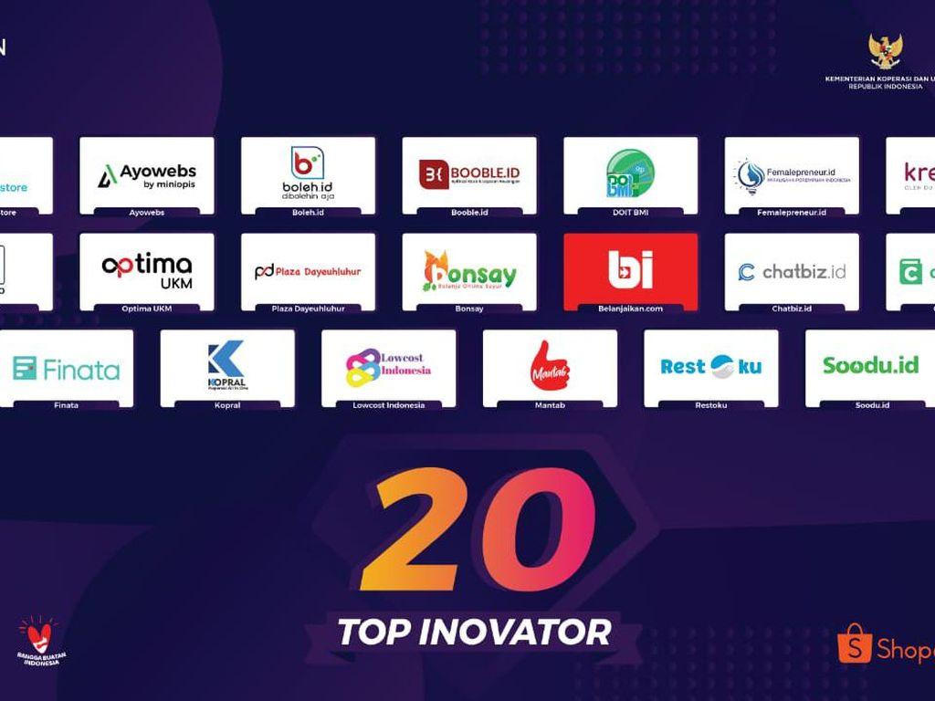 Seleksi Ketat, 20 Inovator Lolos Tahapan Pahlawan Digital UMKM