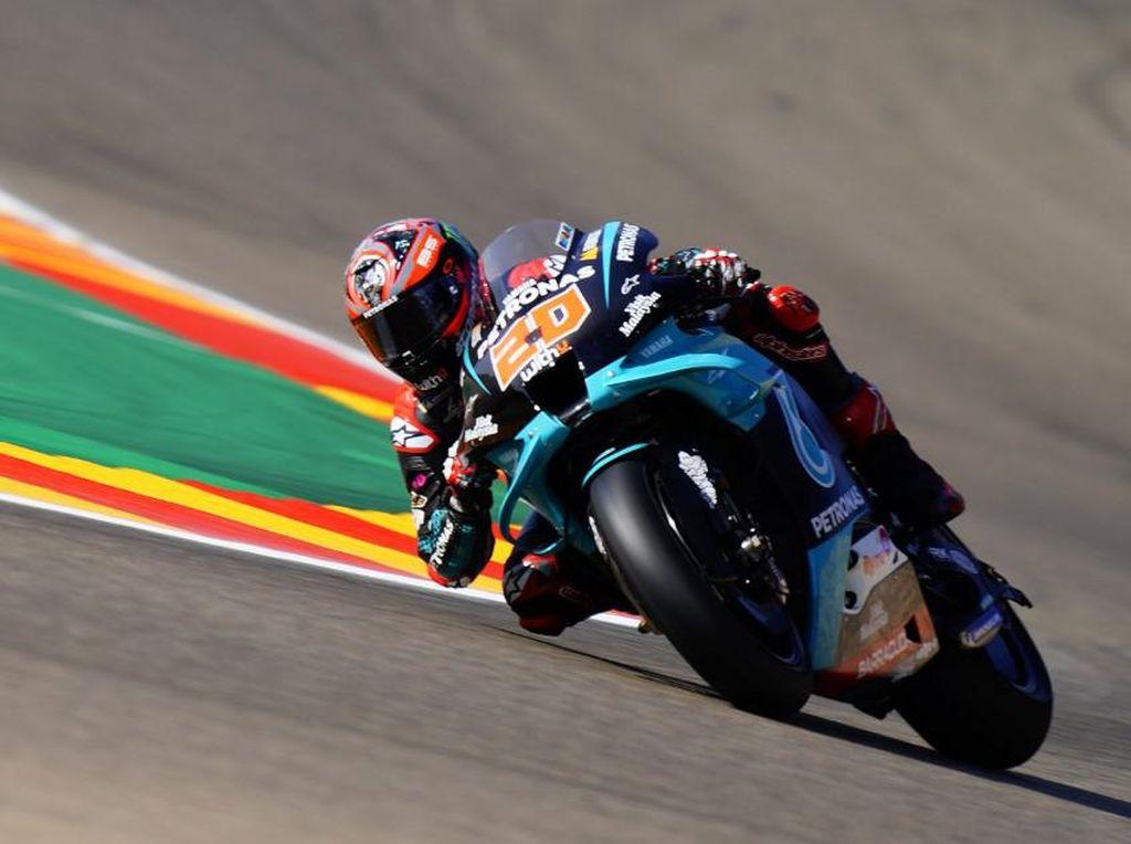 Gegara Tekanan Angin Ban Depan, Quartararo Tercecer ke Belakang di MotoGP Aragon