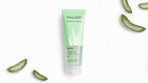 Wardah Nature Daily Aloe Hydramild Gel skincare serbaguna