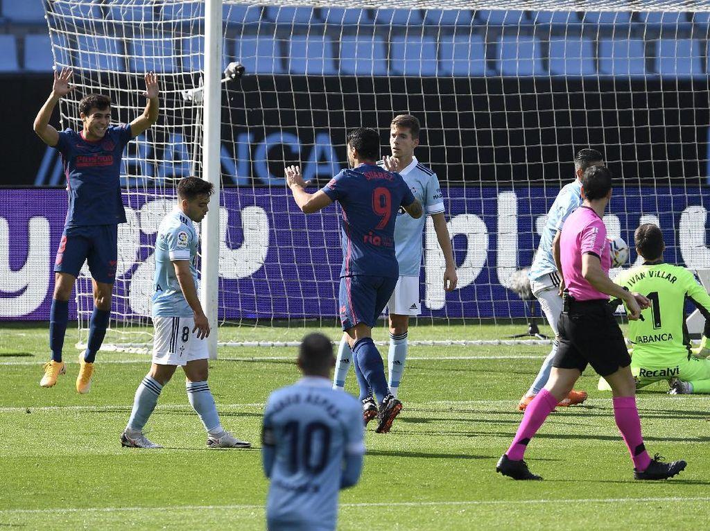 Luis Suarez Cetak Gol, Atletico Madrid Bungkam Celta Vigo 2-0