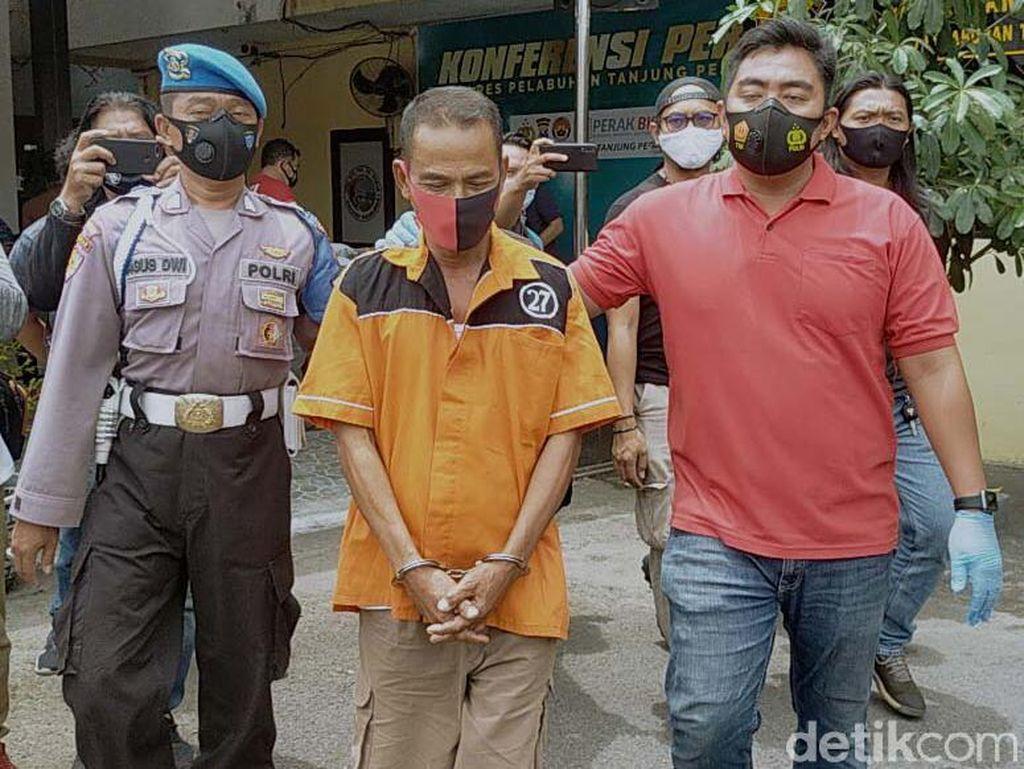 Penampakan Tukang Parkir Pembacok Tetangga hingga Tewas di Surabaya