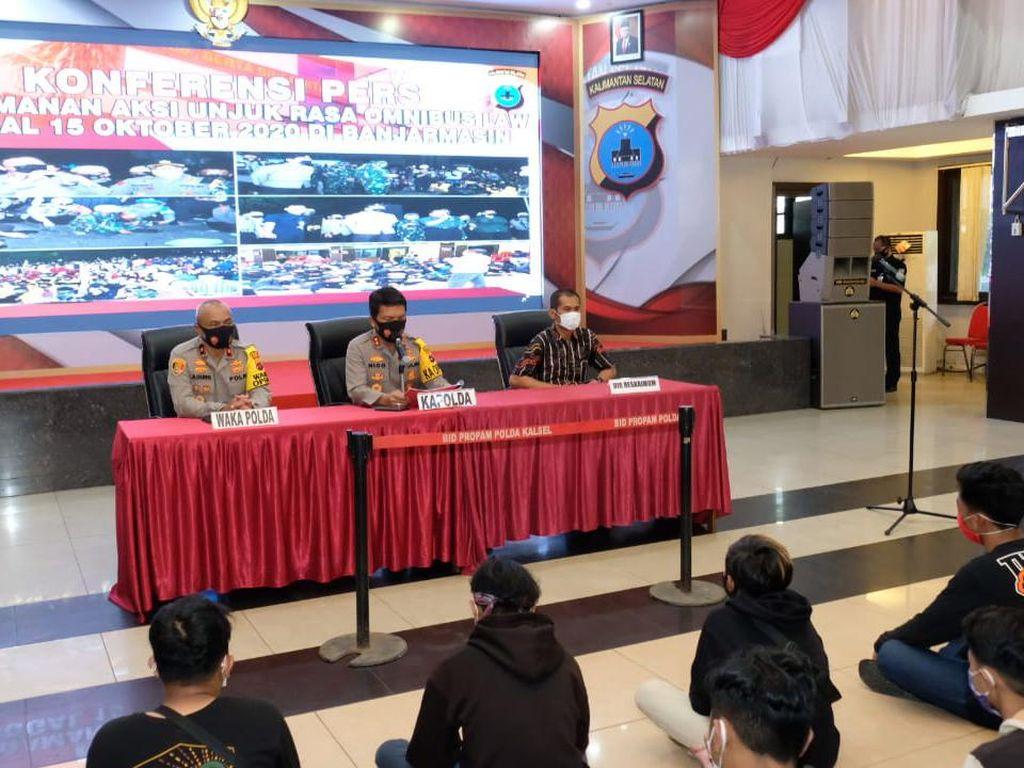374 Orang Diduga Penyusup Demo di DPRD Kalsel Ternyata Berstatus Pelajar