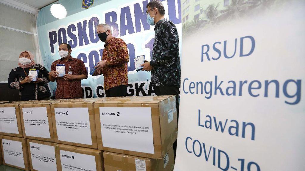 RSUD Cengkareng Terima Donasi 12.000 Masker KN95