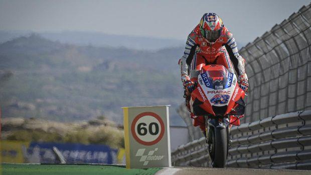 Jack Miller di kualifikasi MotoGP Aragon 2020.