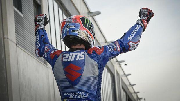 Alex Rins di MotoGP Aragon 2020.