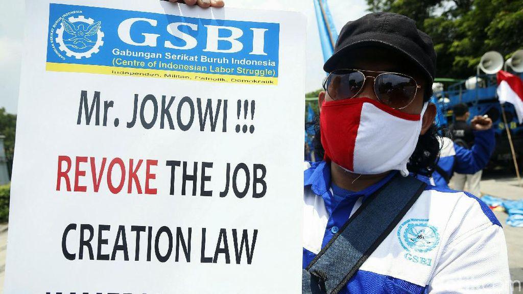 Lagi, Buruh Demo Tolak Omnibus Law