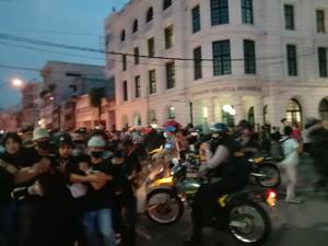 Jelang Malam, Massa Demo Tolak Omnibus Law di Medan Dibubarkan Polisi