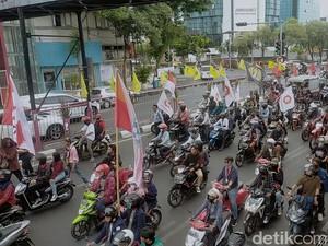 Massa Mulai Bergerak ke Grahadi, Buruh Sepakat Demo Damai
