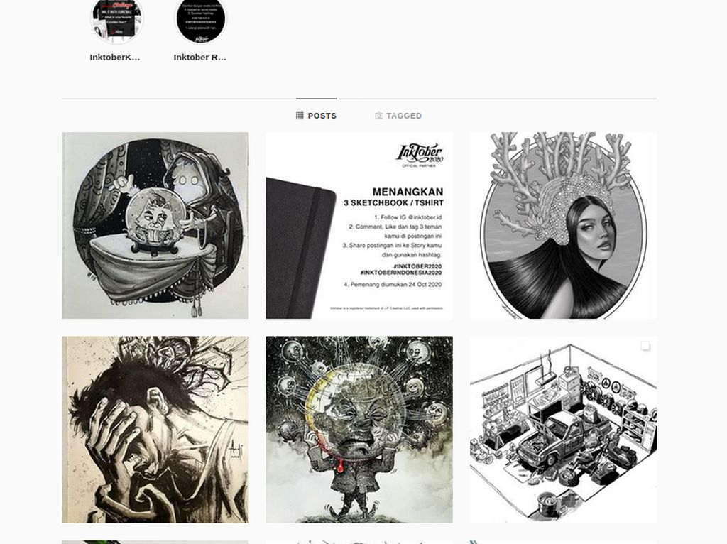 Ingin Ikut Inktober Indonesia? Seniman Wajib Gambar Pakai Tinta