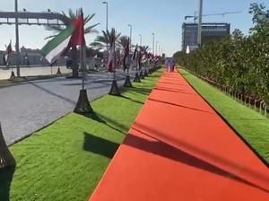 Penampakan Jalan Presiden Joko Widodo di Abu Dhabi