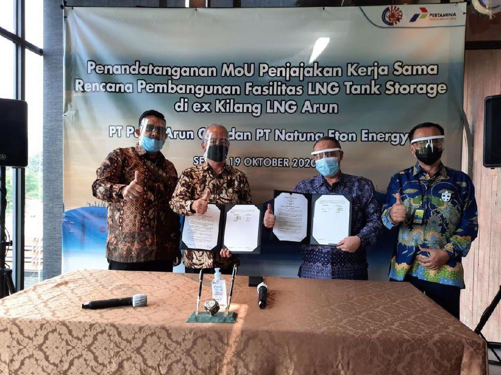 Perta Arun Gas-Natuna Eton Kerja Sama Bangun Tangki LNG